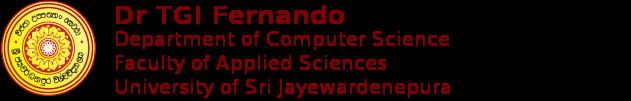 Dr. TGI Fernando